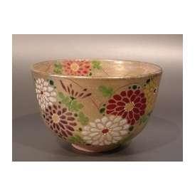 茶碗 金砂子 菊 N-079