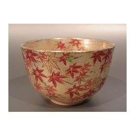 茶碗 金砂子 紅葉絵