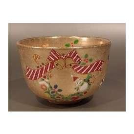 茶碗 金砂子 クリスマス