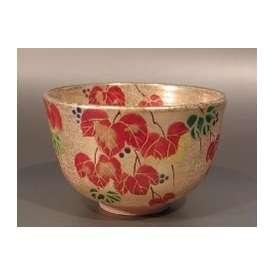 茶碗 金砂子 蔦の絵