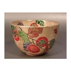 茶碗 金砂子 柿絵