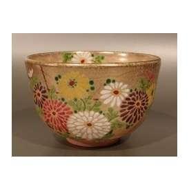 茶碗 金砂子 菊絵