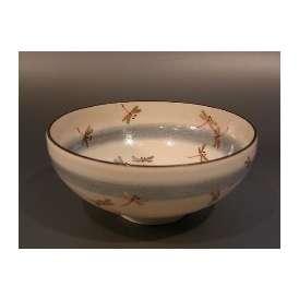 茶碗 蜻蛉(トンボ)絵 馬盥(ばだらい)