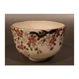 茶碗 仁清 枝垂(しだれ)桜