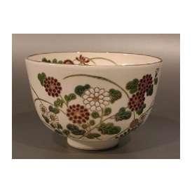 茶碗 仁清写 菊の絵