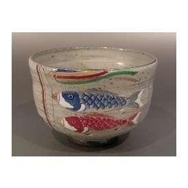茶碗 色絵 鯉幟(こいのぼり)