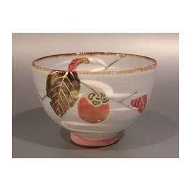茶道具 抹茶茶碗 乾山 柿絵、京焼 山川嘉山作