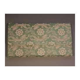 茶道具 帛紗(ふくさ)ばさみ・懐紙入 「龍馬紋」 青磁、正絹 京都 西陣織
