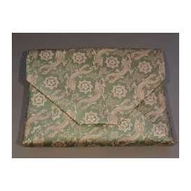 茶道具 数寄屋袋(すきや袋) 「龍馬紋」 青磁、 正絹 京都 西陣織