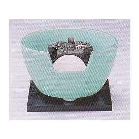 茶道具 遠赤外線 炭型電気ヒーター式 風炉、陶製 紅鉢風炉 青磁 YU-410-2P【 製作 休止中 】