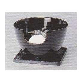 茶道具 遠赤外線 炭型電気ヒーター式 風炉、陶製 紅鉢風炉 黒 YU-408-2P【 製作 休止中 】