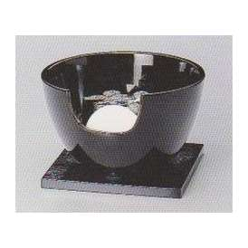茶道具 遠赤外線 炭型電気ヒーター式 風炉、陶製 紅鉢風炉 黒 YU-408-3P 強弱切替スイッチ付