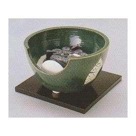 茶道具 遠赤外線 炭型 電熱器【電気・炭手前 両用】、 陶製 紅鉢風炉 織部 YU-403-2P【 製作 休止中 】