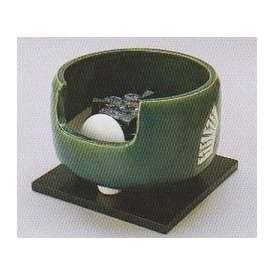 茶道具 遠赤外線 炭型 電熱器【電気・炭手前 両用】、 陶製 道安風炉 織部 YU-401-3P 強弱切替スイッチ付