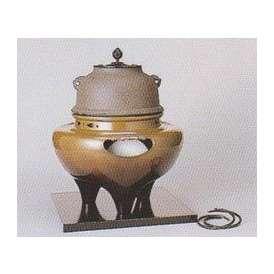 茶道具 遠赤外線 炭型 電熱器、 唐銅 朝鮮風炉 YU-502-2P 菊地政光作 釜添【 製作 休止中 】