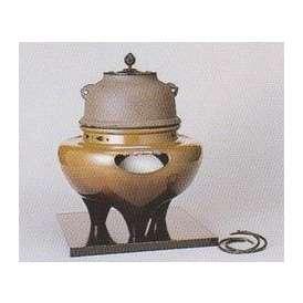 茶道具 遠赤外線 炭型 電熱器、 唐銅 朝鮮風炉 YU-502-3P 菊地政光作 釜添 強弱切替スイッチ付