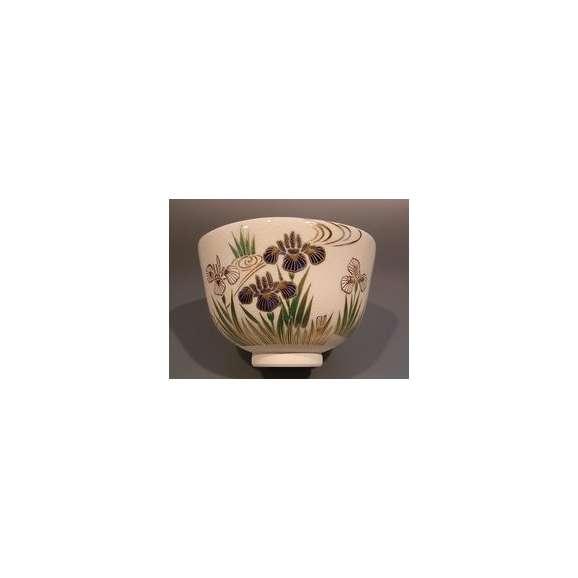 茶道具 抹茶茶碗 色絵 菖蒲(しょうぶ)画 M-8、京焼 相模竜泉作【ギフト】02