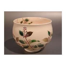 茶道具 抹茶茶碗 紫式部絵、京都 大石督幸作