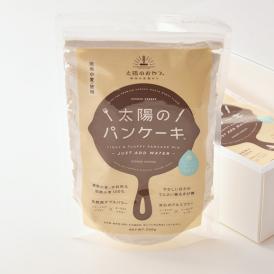 希少な「湘南小麦」の石臼挽き全粒粉を贅沢に使用した、水だけで作れるパンケーキミックスです。
