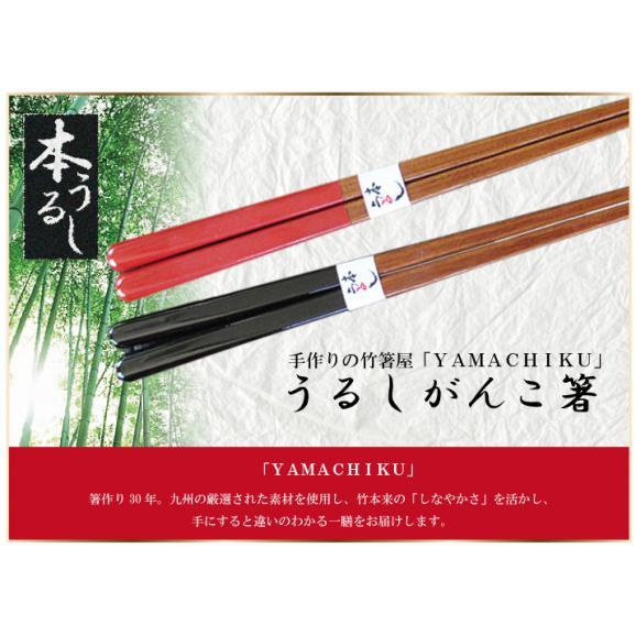 【メール便で送料無料!】うるしがんこ箸21cm・23cm01