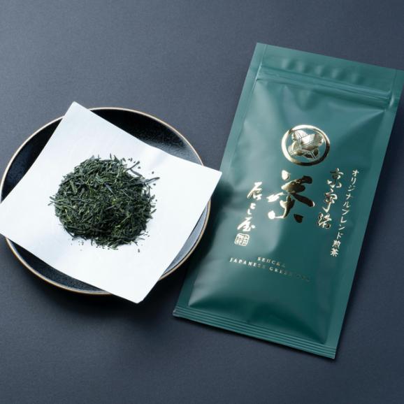 料理屋が作る抹茶チーズケーキ+オリジナルブレンド 特選お煎茶/特選玉露くきほうじ茶セット02