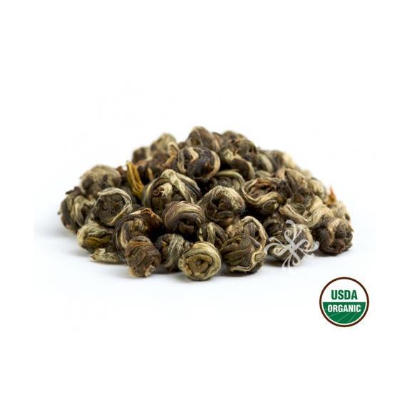 オーガニック ジャスミンパール リーフ缶 緑茶02