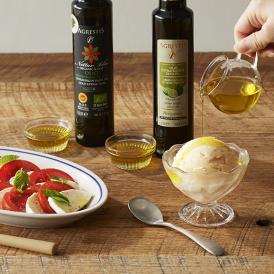 シチリア州の南西、内陸の産地ブッケリのオリーブを使用した、こだわりのオリーブオイル。
