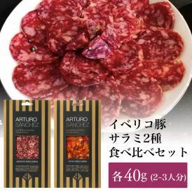 イベリコ豚のサラミ2種セット(サルチチョン・チョリソ40g×2種)