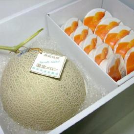 静岡産【温室マスクメロン・夕張メロンピュアゼリーセット】