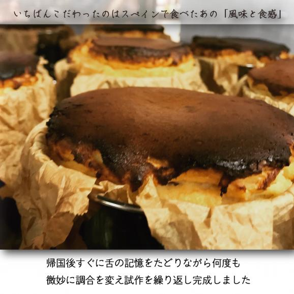 [通常配送]バスクで食べた真っ黒なチーズケーキ<バスクチーズケーキ>プレーン・ミニホール12㎝【箱入り・冷凍便】04