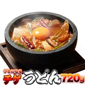 チョイ辛 うまチゲ うどん 4食(180g×4)チョイ辛 チゲスープ 付/送料無料/ゆうパケット