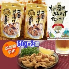 九州丸一食品 黄金鶏皮揚げ 九州の塩 50g×2個 鶏皮 ネコポス