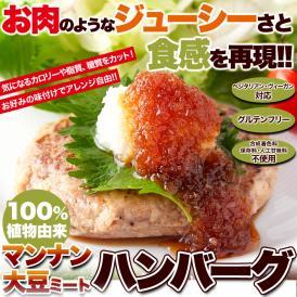 100%植物由来の新感覚 ハンバーグ !!マンナン大豆 ミートハンバーグ 90g×3袋 ネコポス