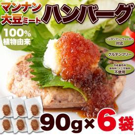 100%植物由来の新感覚 90g×6袋 ハンバーグ !!マンナン大豆 ミートハンバーグ ネコポス