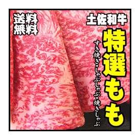 送料無料 最高級A5 土佐和牛 特選もも肉500g【冷凍】