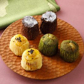 チョコにぜんざいを合わせた「ぜんさいショコラ」など、人気の3種類をセットに。全て小麦粉不使用。