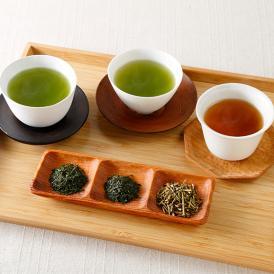 「利休の詩 和紙袋銘茶」は、人気の3種詰め合わせ。