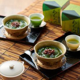 つぼ市の抹茶で作ったグリーンティーを使った贅沢な味わいの抹茶あんみつ。