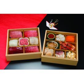 【送料無料】海鮮おせち 刺身重二段 (冷凍)