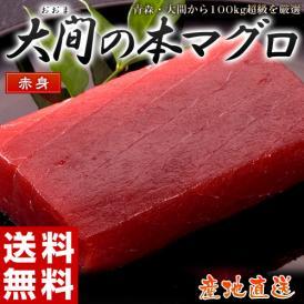 まぐろ マグロ 日本一のブランド「大間の本まぐろ」 赤身(約100g) 鮪 魚介 海鮮 刺身 お造り 冷凍 送料無料