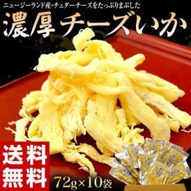 さきいか イカ チーズ おつまみ 北海道加工 『チーズいか』 10袋 (1袋あたり72g) 常温 送料無料