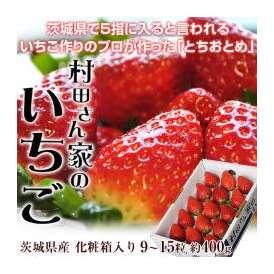茨城県産 『村田さん家のいちご』 化粧箱入り 915粒 約400g ※冷蔵 ☆