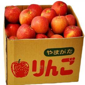 山形産訳あり「早生りんご」バラ詰め 茶箱 (26~54玉前後) 風袋込み約10kg ※常温 送料無料
