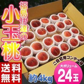 桃 もも 福島県産 伊達の小玉桃 24玉(4玉×6パック)約4kg 送料無料