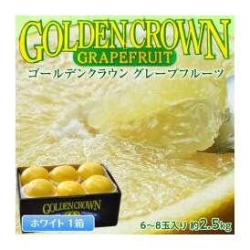 フロリダ産 ゴールデンクラウングレープフルーツ ホワイト 68玉 約2.5kg ○