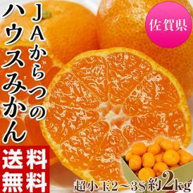 みかん 佐賀県産 JAからつ 超小玉ハウスみかん 2~3Sサイズ 約2kg 送料無料 ☆