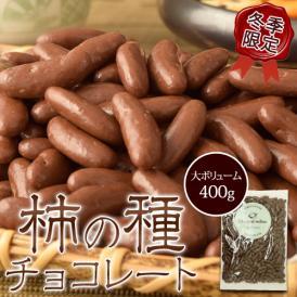 チョコレート 柿の種 ギフト 送料無料 柿の種チョコレート 大容量 400g おやつ 常温 ゆうメール 代引き不可 同梱不可