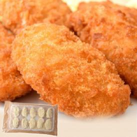 牡蠣 かき カキ「広島産 巨大カキフライ」 50g×10粒 冷凍
