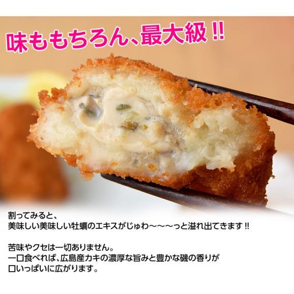 牡蠣 かき カキ「広島産 巨大カキフライ」 50g×10粒 冷凍05