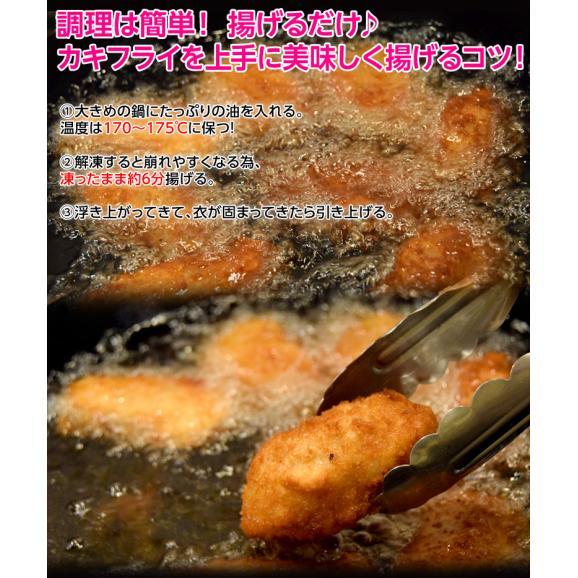 牡蠣 かき カキ「広島産 巨大カキフライ」 50g×10粒 冷凍06